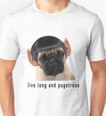 Retro Funny Humorous Star Trek PUG Print T-Shirt