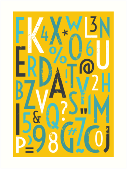 Retro Letters and Numbers by IVETA ANGELOVA
