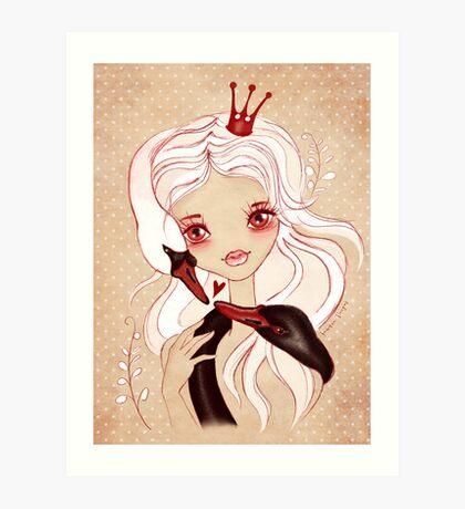 Swan Princess ~ Sketch Art Print