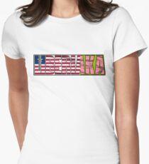 Abstraq Inc: LiberiAKA Women's Fitted T-Shirt