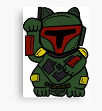LUCKY BOBA CAT Canvas Print