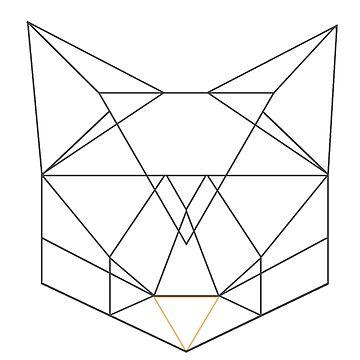 Geometric cat face  by Nadinosaur8
