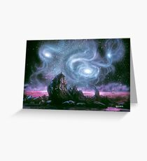 Seascape from a parallel universe Greeting Card
