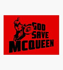 God Save McQueen Photographic Print