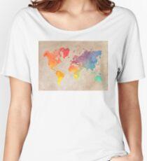 World Map maps Women's Relaxed Fit T-Shirt
