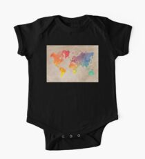 World Map maps One Piece - Short Sleeve