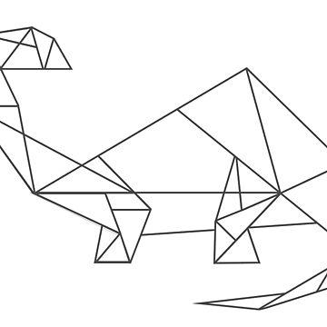 Geometric Dinosaur (Brontosaurus) by Nadinosaur8
