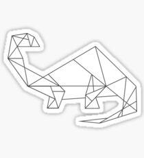 Geometric Dinosaur (Brontosaurus) Sticker