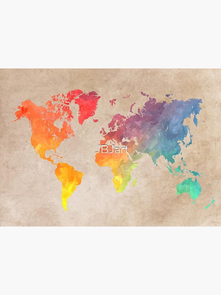 Mapas del mapa mundial de JBJart