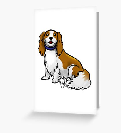 King Charles Cavalier Terrier Greeting Card