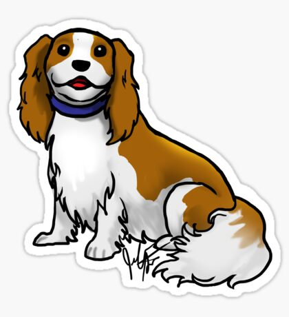 King Charles Cavalier Terrier Glossy Sticker