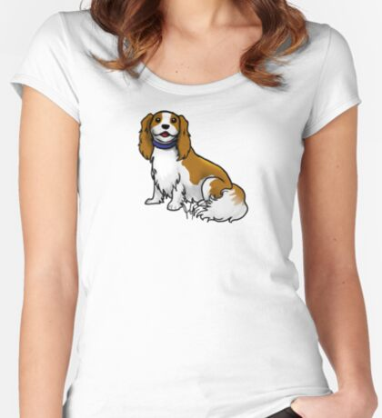 King Charles Cavalier Terrier Women's Fitted Scoop T-Shirt