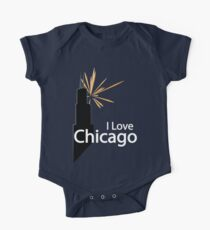 I Love Chicago One Piece - Short Sleeve