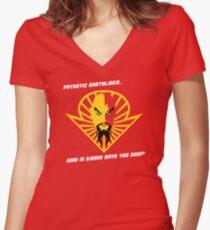 Ming the Merciless Women's Fitted V-Neck T-Shirt