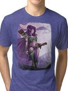 Elf Huntress Tri-blend T-Shirt