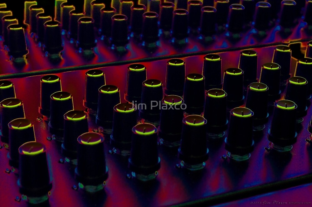 The Glow of Synthesizer Knobs by Jim Plaxco