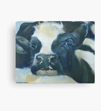 You Can Lean on Me Too --- Cow portrait Canvas Print
