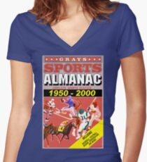 BTTF: Sports Almanac Women's Fitted V-Neck T-Shirt