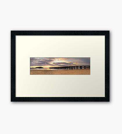 Warm Sunrise - Coffs Harbour Framed Print