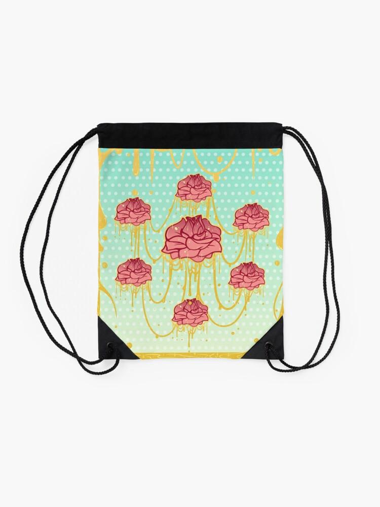Alternate view of Honey Roses Drawstring Bag