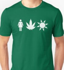 Women Weed Weather  T-Shirt