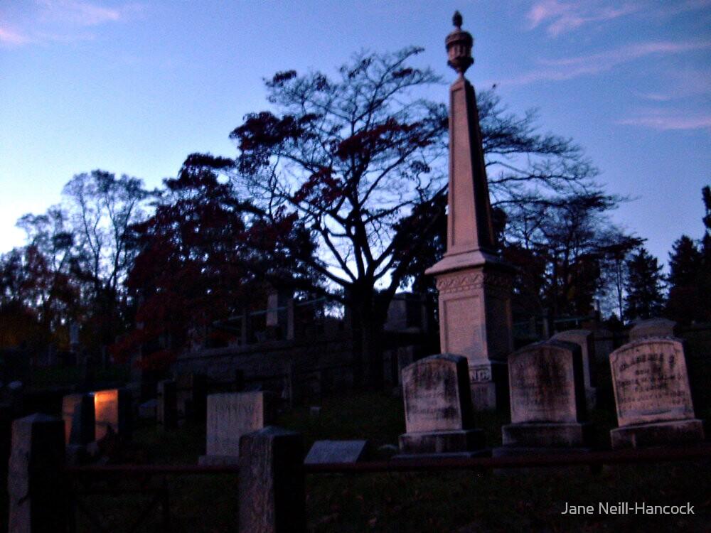 Fire and Stone, Sleepy Hollow Cemetery, Sleepy Hollow NY by Jane Neill-Hancock
