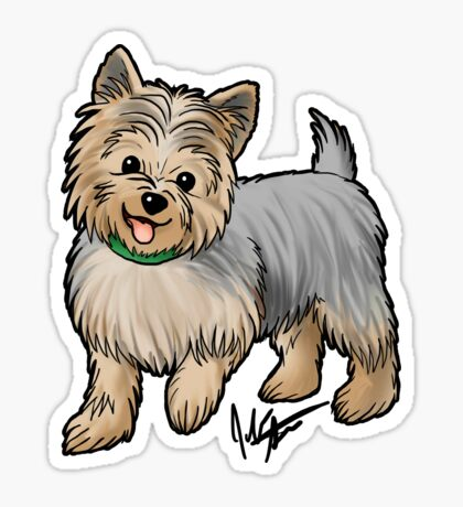 Yorkshire Terrier Glossy Sticker