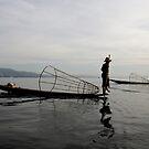 Fisherman on lake Inle, Burma/ Myanmar by Peter Voerman