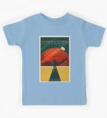 Moons of Mars Travel Poster Kids Tee