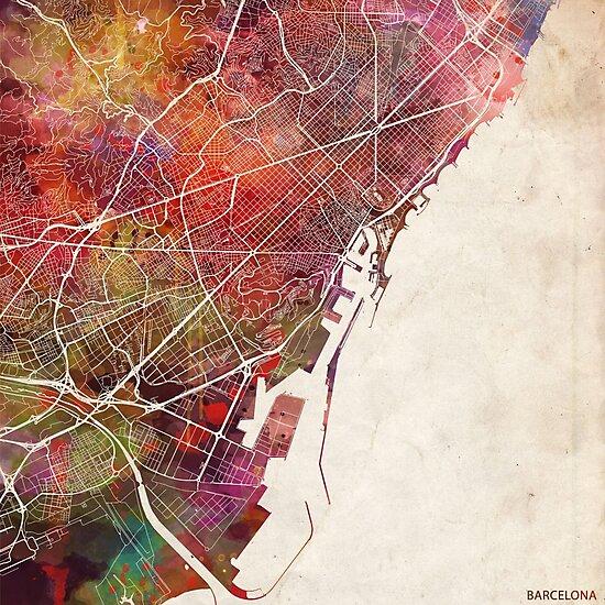 Barcelona map by MapMapMaps