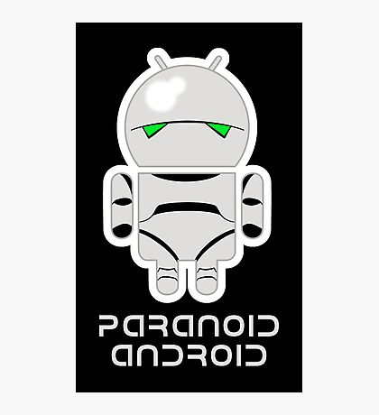 PARANOID ANDROID Photographic Print