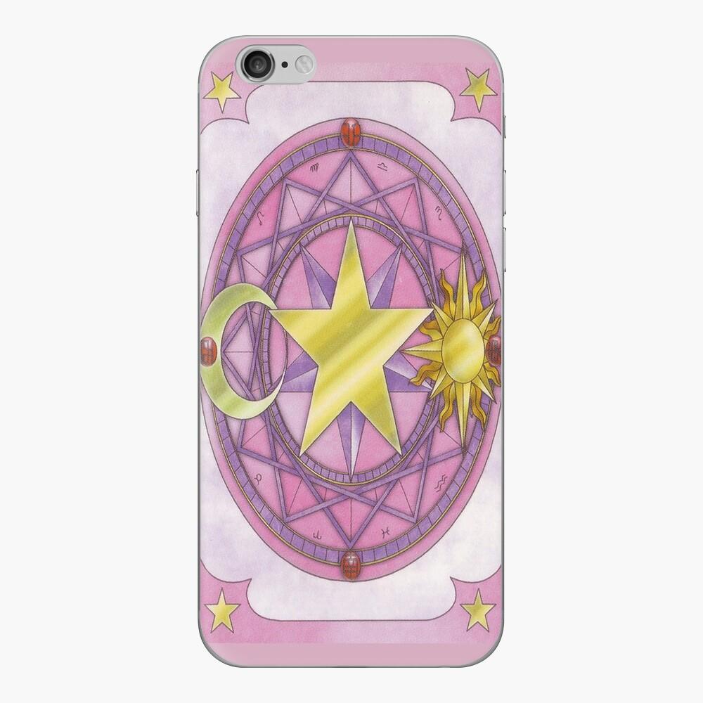 Sakura-Karten-Telefonkasten iPhone Klebefolie