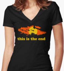 Apocalypse Now: This is the end Women's Fitted V-Neck T-Shirt