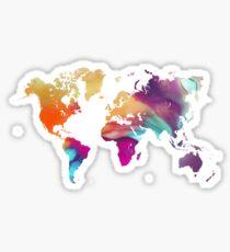 World map watercolor  Sticker