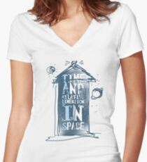 My Little Tardis Women's Fitted V-Neck T-Shirt