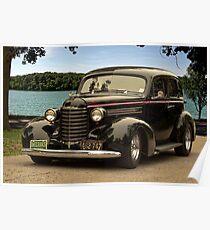 1937 Oldsmobile Custom Sedan Hot Rod Poster