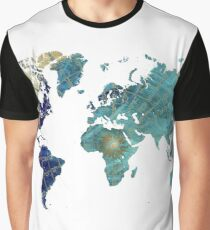 World map wind rose Graphic T-Shirt