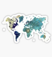 World map wind rose Sticker