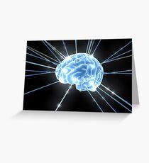 Brain Glow Energy Greeting Card