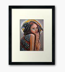 Crow Woman Framed Print