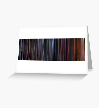 Moviebarcode: Star Trek III: The Search for Spock (1984) Greeting Card