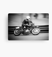 Classic racing motorcycle Canvas Print