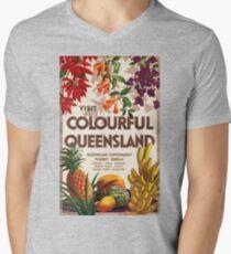 Vintage poster - Queensland Men's V-Neck T-Shirt