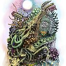 Cuttlefish memories surreal abstraction by Matthew Sergison-Main