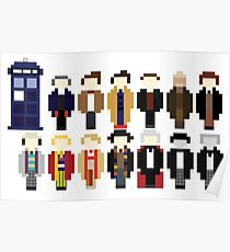Pixel Doctor Who Regenerations Poster