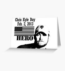 Chris Kyle RIP v2 Greeting Card