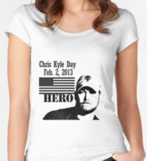 Chris Kyle RIP v2 Women's Fitted Scoop T-Shirt
