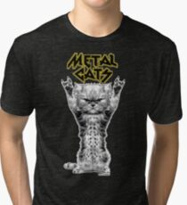 metal cats Tri-blend T-Shirt