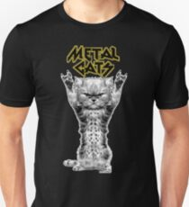 Metall Katzen Slim Fit T-Shirt