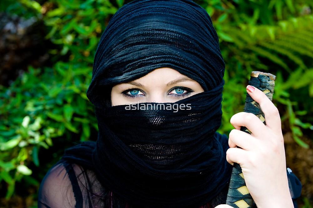 She Ninja - closeup by aslanimages